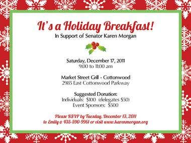 Holiday Fundraiser for Senator Karen Morgan