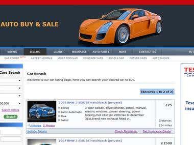 Auto Trading Website