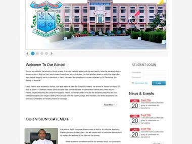 CMS website for international school