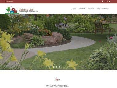 Construction Service website