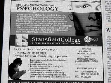 Newspaper Ad for Psychology Programme