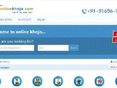Online Khojo Classified Website PHP Mysql