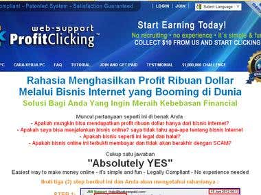 Website Support ProfitClicking