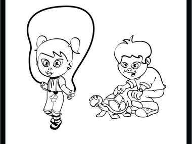 Line Drawing - cartoons