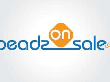 Beadsonsale - Example of logo.