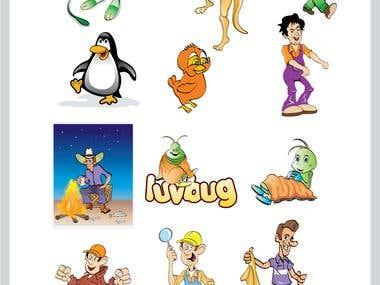 Mascots/Cartoons/Caricatures