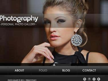 Web Photo Gallery Template