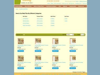 online diet management and diet food selling store.