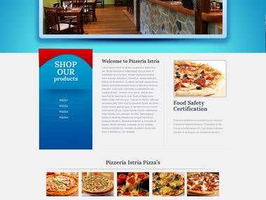 Pizerria Web Design