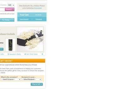 Website - for a Gift Shop