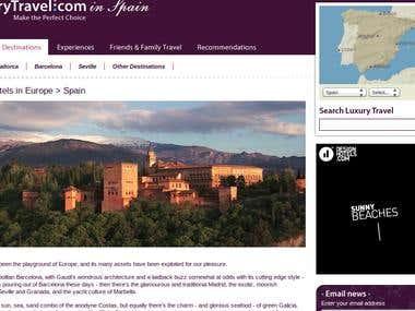Web Content For Travel Destinations