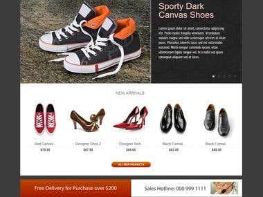 Just-Shoes: Prestashop Theme Design