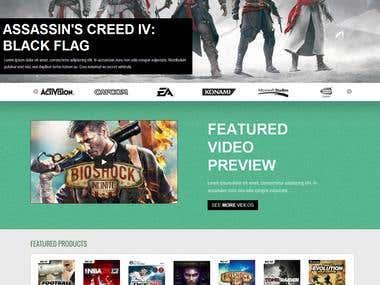 LCS Gamestore2: Prestashop Theme Design