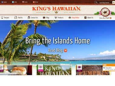 King's Hawaiian HTML5/CSS3 Work