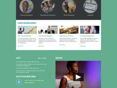 Joomla CMS website setup and design.
