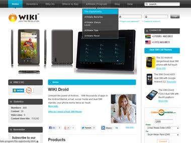 WikiGlobal Joomla based Shoping Cart