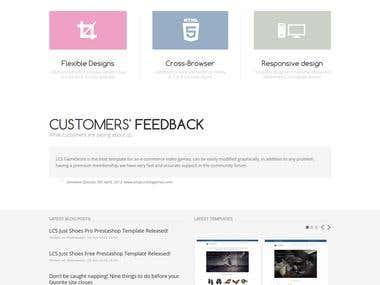 Joomla CMS website setup and design