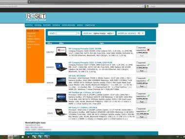 Reset webshop