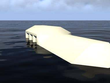 Wakeboard jump ramp design