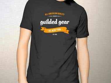 Logo Design on T-Shirt for Guilded Gear