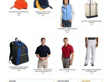 Online Shopping website - WOOCOMMERCE