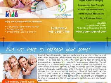 Purenz Dental Flyer Project