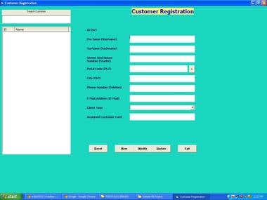 Customer Registration Software using VB 6.0