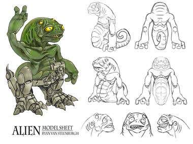 Model Sheet - Alien Creature