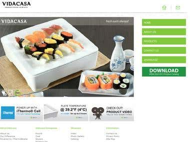 Vidacasa Restaurant website