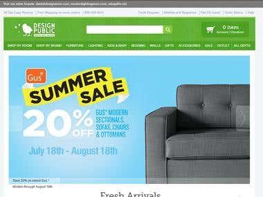 Design Public is a unique online furniture store in Opencart