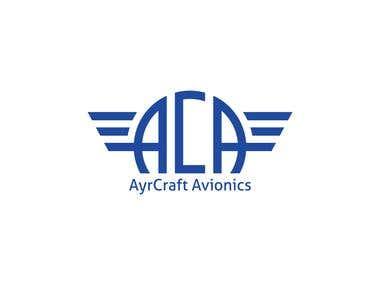 AyrCraft Avionics logo design