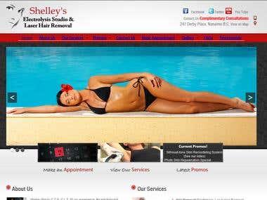 Shelly Studios a portfolio website in Wordpress