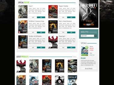 Gamestore: Prestashop Theme Design