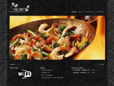 Pizzeria logo design, webpage design, photoshooting