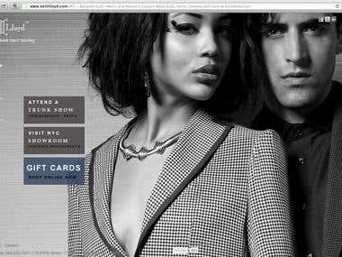 Website for a Fashion Designer