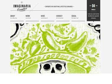 Imaginaria Creative portfolio website in Wordpress