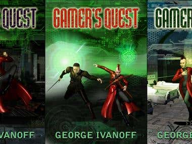 Gamers Quest book design concepts