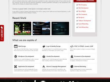 Some of my web pages designs
