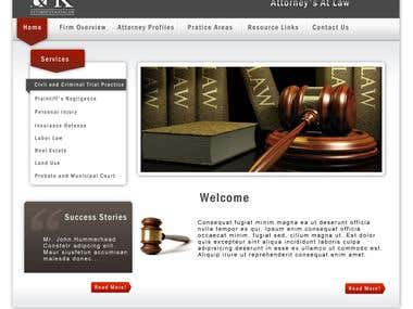 An Attorny's website