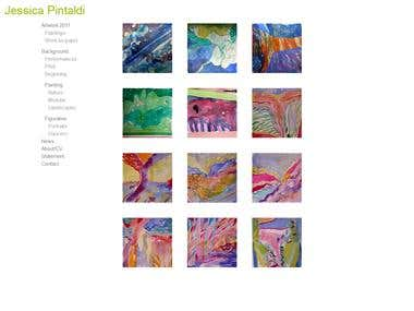 Artist Web Site for Jessica Pintaldi