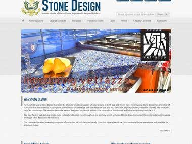 Marble store site, built from scratch