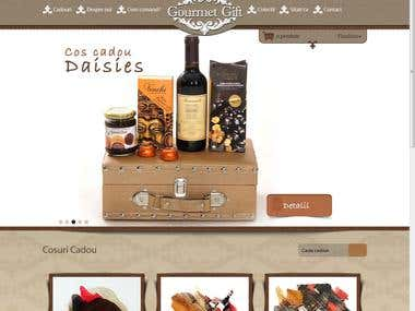 Gift baskets store, built from scratch