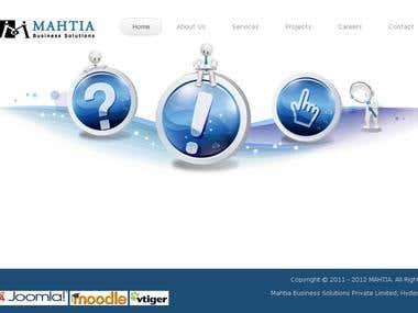WORDPRESS - mahtia company site developed on wordpress
