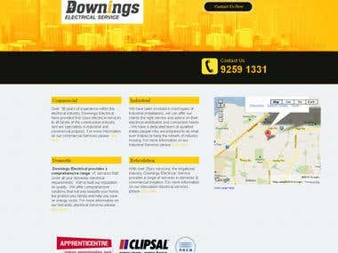 Website design for DowningsElectrical
