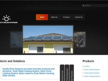 JOOMLA - Quality Solar Systems Site developed on Joomla
