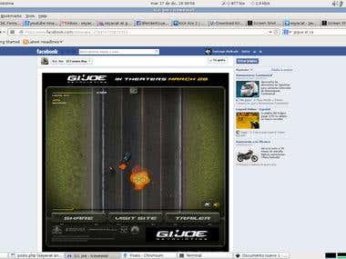 GIJOE el camino run, AS3 - Facebook game