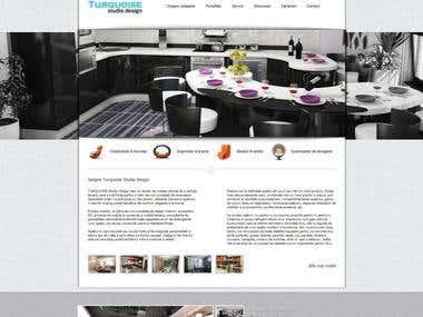 Interior design presentation website