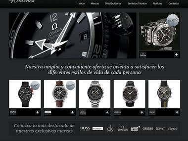 Diseño web para Watches