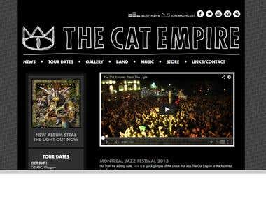 TheCatEmpire Online Music Store in Asp.net