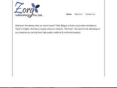 Website for a Pharmaceutical Company